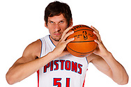 AUBURN HILLS, MI. - SEPTEMBER 26: Boban Marjanovic #51 of the Detroit Pistons poses for a photo during media day on September 26, 2016 in Auburn Hills, MI.  NOTE TO USER: User expressly acknowledges and agrees that, by downloading and or using this photograph, User is consenting to the terms and conditions of the Getty Images License Agreement. Mandatory Copyright Notice: Copyright 2016 NBAE  (Photo by Rick Osentoski/NBAE via Getty Images)