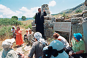 orthodox pilgrims at St. Luke's Tomb near Ephesus in turkey