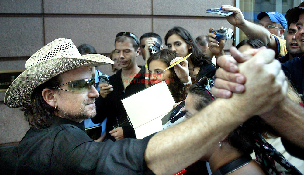 U2's Bono, just days before the announcement of the Nobel Peace Prize, of which he was a finalist.