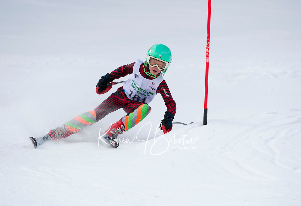 Piche Invitational Slalom 1st run U12 boys Sunday, March 17, 2013.  Karen Bobotas Photographer