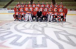 Team HK Acroni Jesenice ice-hockey team for season 2008/2009 at official photo shooting in Arena Podmezaklja, Jesenice, on September 24, 2008. (Photo by Vid Ponikvar / Sportal Images)