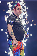 Peter Wright wins his semi final against Gerwyn Price during the PDC William Hill World Darts Championship Semi-Final at Alexandra Palace, London, United Kingdom on 30 December 2019.