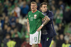 November 14, 2017 - Dublin, Ireland - James McClean and Seamus Coleman of Ireland disappointed during the FIFA World Cup 2018 Play-Off match between Republic of Ireland and Denmark at Aviva Stadium in Dublin, Ireland on November 14, 2017 Denmark defeats Ireland 5:1. (Credit Image: © Andrew Surma/NurPhoto via ZUMA Press)