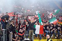 i tifosi del milan festeggiano lo scudetto<br /> Roma vs Milan<br /> Campionato di Calcio serie A<br /> Stadio Olimpico, Roma, 07/05/2011<br /> Photo Antonietta Baldassarre Insidefoto