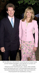 MR & MRS GUY SANGSTER, he is the son of race horse owner Robert Sangster, at a dinner in London on 21st May 2001.OOK 22