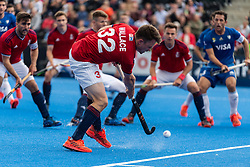 Zach Wallace of Great Britain Men crosses the ball during the 2019 Men's FIH Pro League match at Lee Valley Hockey Centre, Stratford<br /> Picture by Simon Parker/Focus Images Ltd <br /> 18/05/2019