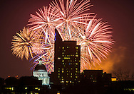 Old Sacramento Fireworks 2015 new years eve.