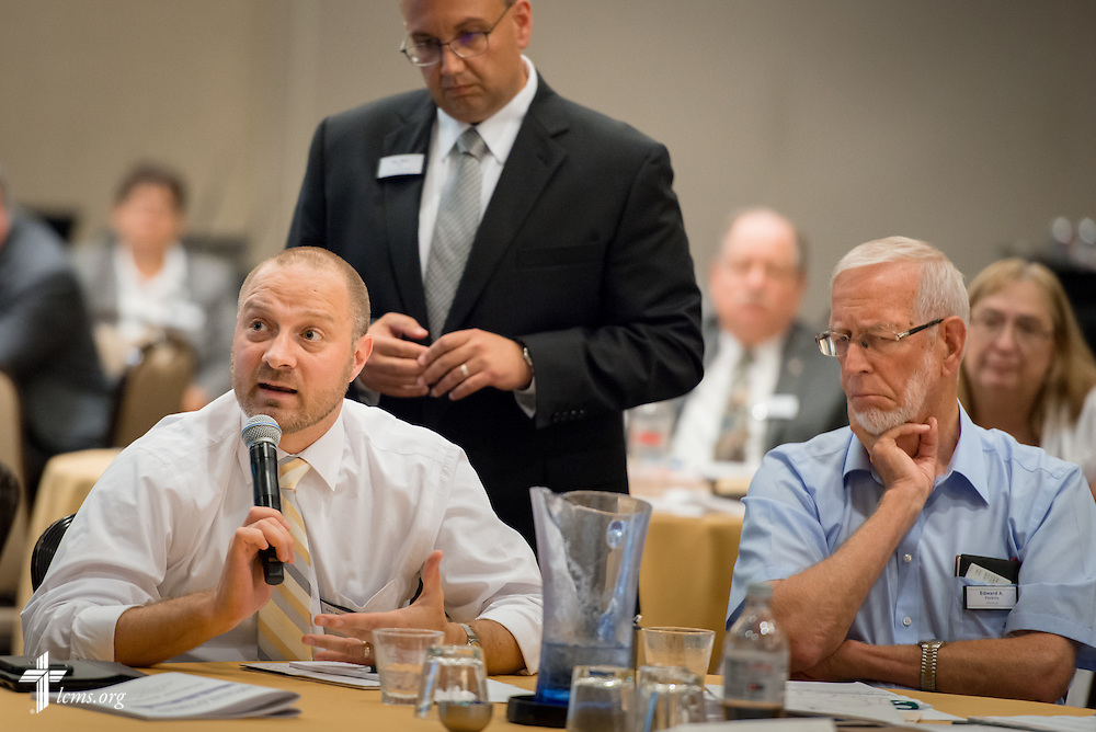 The Rev. Michael Salemink, executive director at Lutherans For Life, asks a question during a presentation at the Let's Talk Life, Marriage and Religious Liberty event on Tuesday, September 8, 2015, in Washington, D.C. LCMS Communications/Erik M. Lunsford