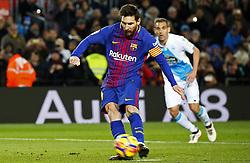 December 17, 2017 - Barcelona, Catalonia, Spain - Leo Messi misses a penalty during the La Liga match between FC Barcelona v Real Club Deportivo de La Coruna, in Barcelona, on December 17, 2017. (Credit Image: © Joan Valls/NurPhoto via ZUMA Press)
