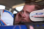 TUCSON, ARIZONA - MAY 07:  Ryan Partridge, driver of the #9 Sunrise Ford/Eibach Spring/Lucas Oil, during practice for the NASCAR K&N Pro Series West NAPA Auto Parts Wildcat 150 at Tucson Speedway on May 7, 2016 in Tucson, Arizona.  (Photo by Jennifer Stewart/NASCAR via Getty Images)