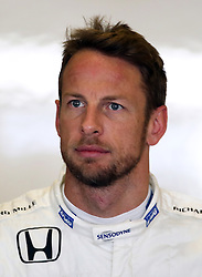 McLaren's Jenson Button during practice at Yas Marina Circuit, Abu Dhabi.