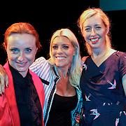 NLD/Amsterdam/20120911- Presentatie DVDbox 125 jaar Carre, Bianca Krijgsman, Judith Osborn en Plien van Bennekom