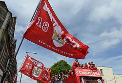 Bristol City flags during the celebration tour - Photo mandatory by-line: Dougie Allward/JMP - Mobile: 07966 386802 - 04/05/2015 - SPORT - Football - Bristol -  - Bristol City Celebration Tour