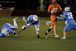 The Virginia Cavaliers Men's Lacrosse Team defeated the North Carolina Tar Heels 10-9 in overtime at Klockner Stadium in Charlottesville, VA on April 7, 2007.