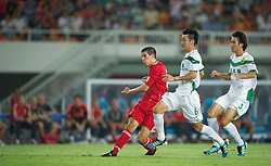 GUANGZHOU, CHINA - Wednesday, July 13, 2011: Liverpool's Conor Coady scores the third goal against Guangdong Sunray Cave, on his debut for the first team, during the first pre-season friendly on day three of the club's Asia Tour at the Tianhe Stadium. (Photo by David Rawcliffe/Propaganda)