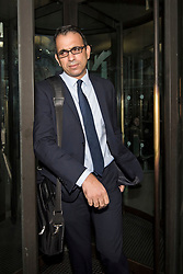 © Licensed to London News Pictures. 06/02/2018. London, UK.  ZAFAR KHAN, former finance director of Carillion, leaves Portcullis house in London where former bosses of the outsourcing firm Carillion have given evidence to a Business, Energy and Industrial Strategy Committee and the Work and Pensions Committe. Carillion plc, a major government contractor, went in to administration in January 2018. Photo credit: Ben Cawthra/LNP