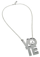 silver vote peace necklace