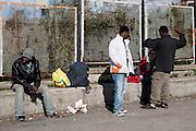 Rosarno immigrati in partenza