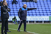 Reading FC Manager Brian McDermott shouting out instructions during the The FA Cup fourth round match between Reading and Walsall at the Madejski Stadium, Reading, England on 30 January 2016. Photo by Mark Davies.