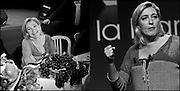 Marine Le Pen lors de son déplacement a Palavas les Flots pour un meeting.Marine Le Pen when moved to a rally in Palavas les Flots