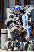 A human Transformer street artist. photographed in New Orleans, LA, USA