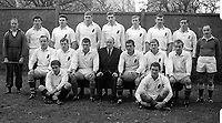 Ulster rugby team who played Munster at Ravenhill, Belfast, 11th November 1967. 19671111188UBW<br /> <br /> PLEASE EMAIL ME IF YOU CAN IDENTIFY ALL OR ANY OF THE PLAYERS!<br /> <br /> Copyright Image from Victor Patterson, 54 Dorchester Park, Belfast, UK, BT9 6RJ<br /> <br /> Tel: +44 28 9066 1296<br /> Mob: +44 7802 353836<br /> Voicemail +44 20 8816 7153<br /> Email: victorpatterson@me.com<br /> Email: victorpatterson@gmail.com<br /> <br /> IMPORTANT: My Terms and Conditions of Business are at www.victorpatterson.com