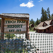 The historic Tioga Pass Resort en route to the eastern entrance to Yosemite was destroyed by the record snowfall in 2016-2017.