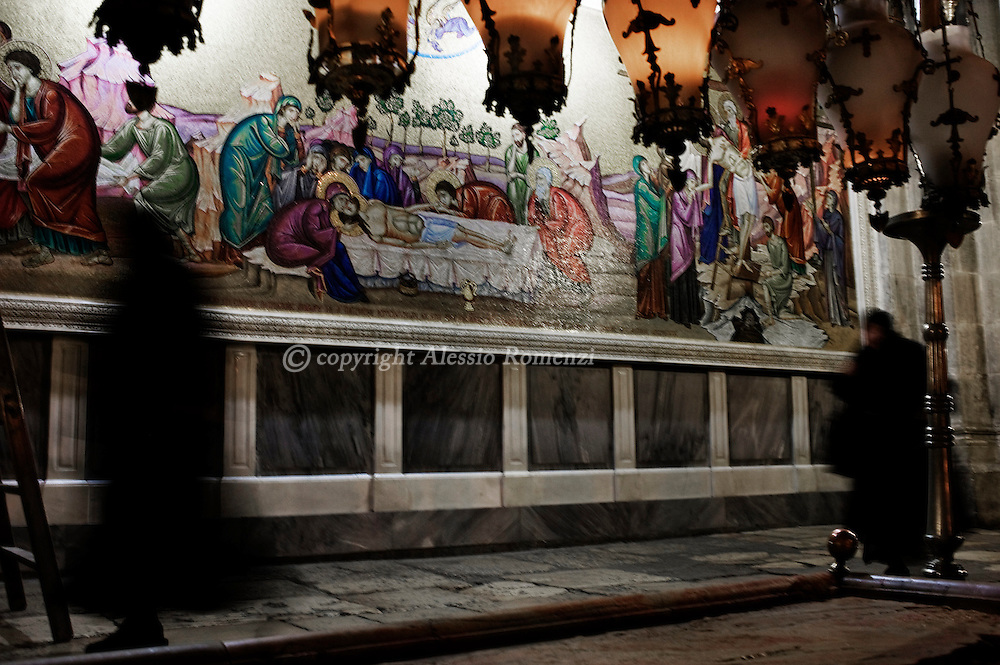 Church of the Holy Sepulchre in Jerusalem February 19, 2010. According to a centuries-old tradition, the French consul is considered the 'protector of Christian holy sites' in Jerusalem.© ALESSIO ROMENZI