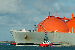 March 2, 2016 - ''LNG or liquid natural gas tanker entering Rotterdam harbour, to dock at a the new LNG terminal' (Credit Image: © Cultura via ZUMA Press)