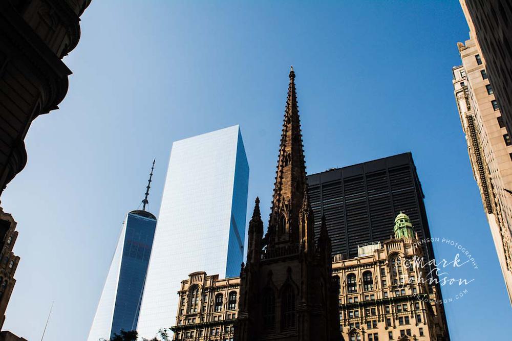 "Trinity Church & ""Freedom Tower"", Wall Street, Manhattan, New York City, New York, USA"