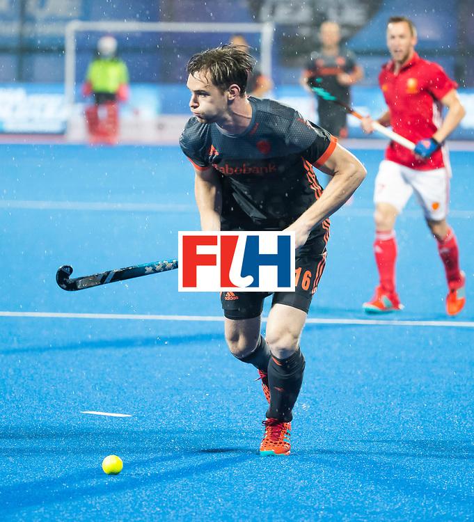 BHUBANESWAR - Mirco Pruyser (Ned) tijdens de Hockey World League Finals , de wedstrijd om de 7e plaats, Engeland-Nederland (0-1).   COPYRIGHT KOEN SUYK