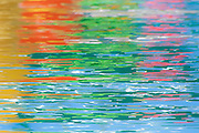 Abstract design of colors on water