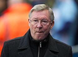 MANCHESTER, ENGLAND - Sunday, January 8, 2012: Manchester United's manager Alex Ferguson during the FA Cup 3rd Round match against Manchester City at the City of Manchester Stadium. (Pic by Vegard Grott/Propaganda)