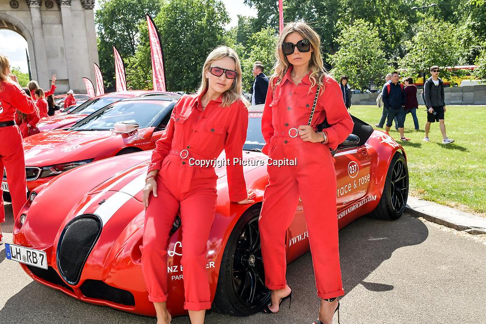 Erica Pelosini, Carmen Jorda attend Cash & Rocket Photocall at Wellington Arch, on 6 June 2019, London, UK