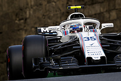 April 28, 2018 - Baku, Azerbaijan - SIROTKIN Sergey (rus), Williams F1 Mercedes FW41, action during the 2018 Formula One World Championship, Grand Prix of Europe in Azerbaijan from April 26 to 29 in Baku  (Credit Image: © Hoch Zwei via ZUMA Wire)