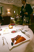 "Vienna, Austria. The ""Steirereck"" with award winning Chef Heinz Reitbauer Junior is probably Vienna's best restaurant.<br /> Rehbock mit Gewürz-Preiselbeeren, Quitten, Pastinaken & Pistazien (Venison with Spiced Lingonberries, Quince, Parsnip and Pistachioes.)"
