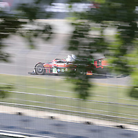 The Performance Tech Motorsports ORECA FLM09 races through the turns at the Detroit Grand Prix at Belle Isle Park in Detroit,MI.
