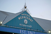Hillsborough clock before the Sky Bet Championship match between Sheffield Wednesday and Blackburn Rovers at Hillsborough, Sheffield, England on 5 April 2016. Photo by Mark P Doherty.