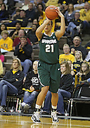 January 27 2010: Michigan St. guard Klarissa Bell (21) puts up a shot during the second half of an NCAA women's college basketball game at Carver-Hawkeye Arena in Iowa City, Iowa on January 27, 2010. Iowa defeated Michigan State 66-64.