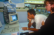 The launch of Microsoft's Windows 95 operating system software, sold at midnight on 23rd August 1995, in Croydon, London, England.