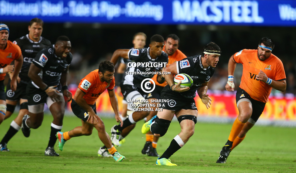 DURBAN, SOUTH AFRICA - MARCH 05: Marcell Coetzee of the Cell C Sharks during the 2016 Super Rugby match between Cell C Sharks and Jaguares at Growthpoint Kings Park Stadium on March 05, 2016 in Durban, South Africa. (Photo by Steve Haag/Gallo Images)