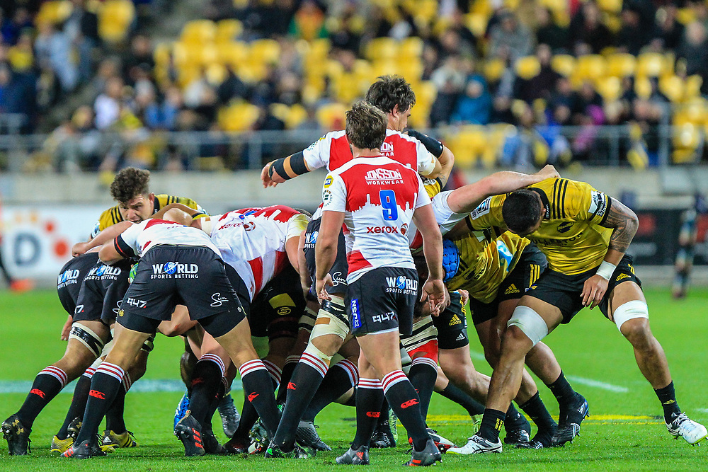 Mall during the Super rugby (Round 12) match played between Hurricanes  v Lions, at Westpac Stadium, Wellington, New Zealand, on 5 May 2018.  Hurricanes won 28-19.