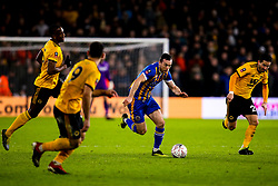 Shaun Whalley of Shrewsbury Town runs the Wolverhampton Wanderers defence - Mandatory by-line: Robbie Stephenson/JMP - 05/02/2019 - FOOTBALL - Molineux - Wolverhampton, England - Wolverhampton Wanderers v Shrewsbury Town - Emirates FA Cup fourth round replay