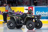 KELOWNA, CANADA - OCTOBER 31: The Polaris Sportsman 110 ATV stands on the ice on October 31, 2015 at Prospera Place in Kelowna, British Columbia, Canada.  (Photo by Marissa Baecker/Shoot the Breeze)  *** Local Caption *** Polaris Sportsman 110;