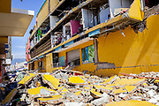A view on Ramayana department store that crumbled when a 7.5 earthquake magnitude that hit off the coast of Donggala, Palu Sulawesi Central, Indonesia on Sept. 28th.  Many people were trapped inside when the building collapsed and their bodies haven't been recovered.