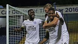 Ivan Toney of Peterborough United celebrates scoring - Mandatory by-line: Joe Dent/JMP - 20/08/2019 - FOOTBALL - Roots Hall - Southend-on-Sea, England - Southend United v Peterborough United - Sky Bet League One