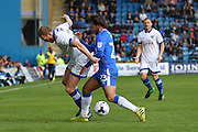 Oldham Athletic midfielder Paul Green (28) and Gillingham midfielder Bradley Dack (23) during the EFL Sky Bet League 1 match between Gillingham and Oldham Athletic at the MEMS Priestfield Stadium, Gillingham, England on 8 October 2016. Photo by Martin Cole.