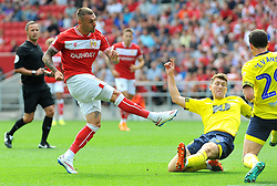 Jack Hunt of Bristol City shoots at goal - Mandatory by-line: Nizaam Jones/JMP - 02/09/2018- FOOTBALL - Ashton Gate Stadium- Bristol, England - Bristol City v Blackburn Rovers - Sky Bet Championship