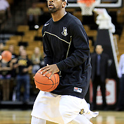 Marcus Jordan (5) of the University of Central Florida Knights mens basketball team warms up against the West Florida Argonauts in the first home game of the 2010 season at the UCF Arena on November 12, 2010 in Orlando, Florida. UCF won the game 115-61. (AP Photo/Alex Menendez)