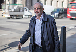 © Licensed to London News Pictures. 28/10/2019. London, UK. Leader of the Labour Party Jeremy Corbyn in Westminster. The EU has granted a flexible extension to the Brexit deadline until 31 January 2020. MPs will vote today on whether to hold a general election in December.  Photo credit: Rob Pinney/LNP